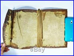 16th Century ANTIQUE ISLAMIC ARABIC LEATHER BOOK BINDING COVER CHINESE QURAN