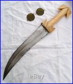1700s ANTIQUE OTTOMAN KHANJAR PERSIAN JAMBIYA DAGGER WOOTZ ISLAMIC KNIFE SWORD