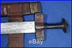 17th century blade with passau wolf mounted on a Tuareg takuba sword