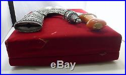 1863 Silver Jambiya Scabbard Amber Gold Dagger US State Dept Gift South Yemen