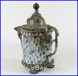 18th / 19th Century Islamic Ottoman Turkish Kutahya Pottery Dallah Coffee Pot
