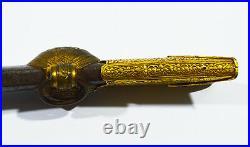 18th ANTIQUE ISLAMIC SHAMSHIR SWORD HOLDER WITH GOLD STEEL OTTOMAN ARABIC