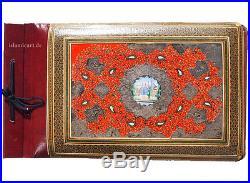 19th/20th CENTURY ANTIQUE QAJAR PERSIAN LACQUER PAPIER MACHE PHOTO ALBUM no-4