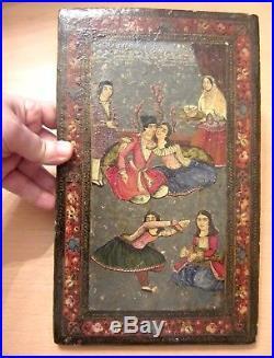 19th C. Lacquered Paper Mache Mirror Frame- Persian/Islamic/Qajar/Turkish