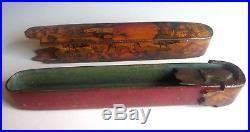 19th C Persian Paper Mache Qalamdan/Pen Box-Qajar/Ottoman/Islamic/Turkish