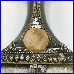 19th Century Yemeni Jambiya Janbiya Dagger Hilt Leather Scabbard