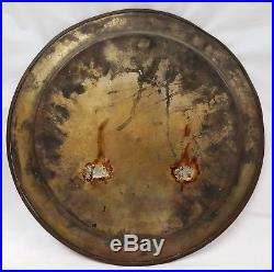 2 Antique Persian Begging Plates Enamel on Copper