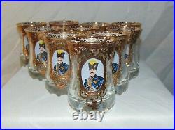 27 Moser Enamel Persian Qajar Dynasty Nasser Al Din Shah Roozbeh Goblets Bowls &