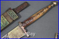 3 x Tuareg telek daggers Maghreb, mid 20th