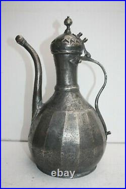 34 cm Antique Dallah Jug Pot middle east islamic art Coffee Pot Bedouin