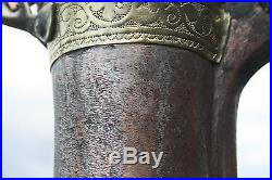 38,5 cm Big NIZWA Original Antique Dallah Coffee Pot Middle East Bedouin Copper