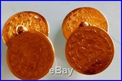 4x 22ct GOLD mid 19thC antique half toman Nasir al Din Coins 7.2gms