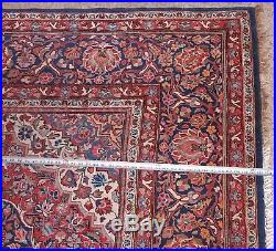 89x122 RUG HAND KNOTTED WOOL ORIENTAL Antique Blue Red Handmade Floral 7'x10ft