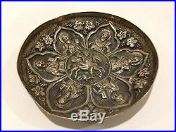 A Highly Collectable Greek Ottoman Reposse 18 Th Century Embossed Silver Dish