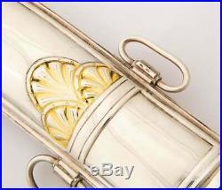 A Royal Saudi Arabian Silver and Silver-Gilt Jambiya Khanjar Dagger, Malachite