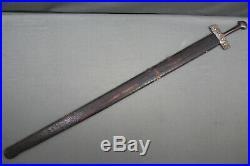 A fine Tuareg takuba of a rare type with an European blade 18th 19th century