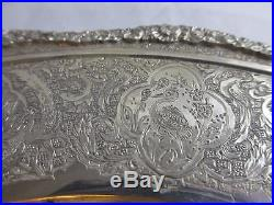 ANTIQUE ART DECO STERLING SILVER asian PERSIAN MIDDLE EASTERN platter PLATE