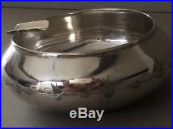 ANTIQUE IRAQI / MIDDLE EASTERN 900, SOLID SILVER ASHTRAY/ BOWL, 81.85, GMS, c1920