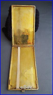 Antique Islamic Persian Qajar Hallmarked Solid Silver Gilt Cigarette Case