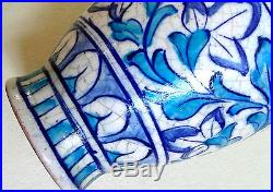 ANTIQUE Islamic MIDDLE EASTERN Indian 19thC VASE Blue & White UK Postage FREE
