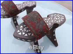 Antique Mother Of Pearl Turkish Ottoman Arabic Islamic High Shoes Bath Clogs