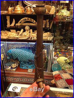 ANTIQUE ORIENTALIST OTTOMAN ARABIC sufi ISLAMIC PALACE ROSEWATER POT