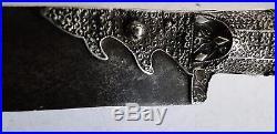 Antique Ottoman Era Islamic Arab Yatagan Sword Dagger Solid Silver Coral 19th C