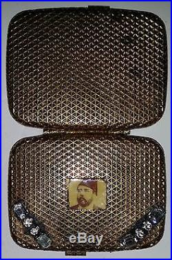 Antique-ottoman-khedive Ismail-cigarette Case-with Poste Aerienne Stamp- Gp