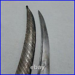 ANTIQUE OTTOMAN SWORD 19. C SILVER inlaid SABRE khanjar Dagger STAMPED
