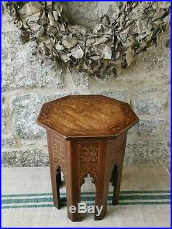 An Antique Inlaid Ottoman Octagonal Table