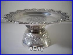 An Antique Islamic Middlle Eastern / Indian Silver Compote c1890