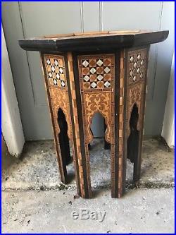 An Islamic Ottoman Syrian Inlaid Table