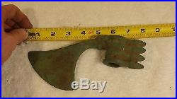 Ancient 8 Bronze AX Head Original Battle Weapon Patina 17-19th Century #2