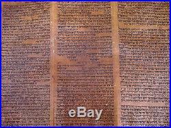 Ancient Complete Torah Bible Manuscript Scroll Deer Parchment 450 Yrs Morocco