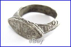 Ancient Ottoman Empire Solid Silver Gents Ring. Stunning! 1v244