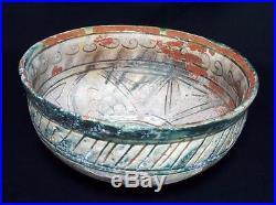 Ancient Persian Islamic Samanid Pottery Bowl c10th Century