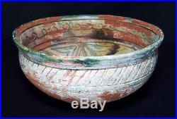 Ancient Persian Islamic Samanid Pottery Bowl c10th Century