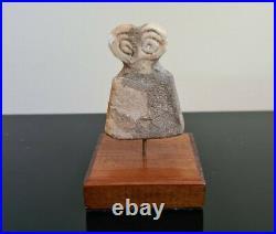 Ancient Syrian Stone Eye Idol Tell Brak Circa 3000 BC PROVENANCE Very Rare