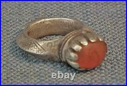 Antique 14th century A. D. (700803 AH) Central Asian Timurid Islamic Silver Ring