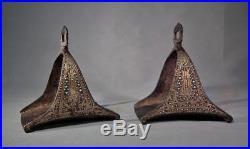 Antique 17th 18th Century Islamic Turkish Ottoman Saddle Stirrups to sword