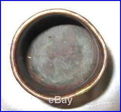 Antique 17th Century Enamel on Copper Hand Wrought Bathing Bowl Syria 1600's