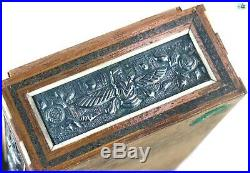 Antique 1850 Qajar Ahura Mazda Faravahar Achaemenid Kings Silver Khatam Box