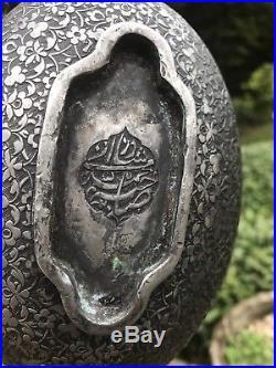 Antique 18th C Islamic Persian Safave Script Darvish Beggere Bowl Kashkol Signed