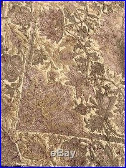 Antique 18th or 19th C Metallic Thread Bullion & Velvet Stumpwork Embroidery