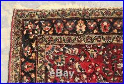 Antique 1930s Hand Woven Middle Eastern Sarouk Wool 39x48 Area Rug, Carpet, NR