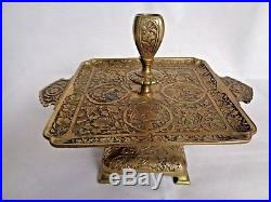 Antique 19th Brass Persian Style Candlestick