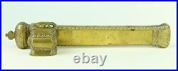Antique 19th C Brass Ottoman Divit Qalamdan Travelling Inkwell Quill Pen Case