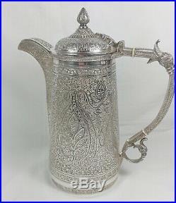 Antique 19th C Islamic Persian Moorish Style Roberts & Belk Silver Plated Teaset