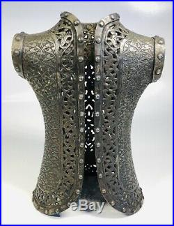 Antique 19th Century Middle Eastern Islamic Bronze Armor Model Figure 7.5 Tall