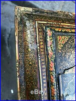 Antique 19th Century Persian Qajar Period Hidden Mirror Wall Cabinet